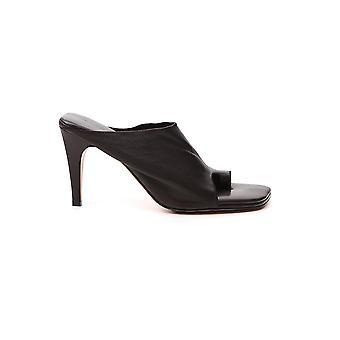 Bottega Veneta 618760vbso02113 Dames's Bruine Leren Slippers