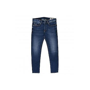 Diesel Sleenker Slim Fit Dark Wash Jeans