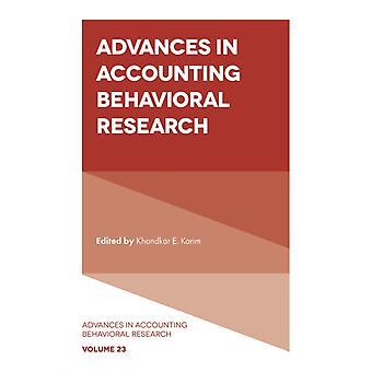 Avances en la investigación conductual contable por Editado por Khondkar E Karim