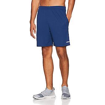 Essentials Men's 2-Pack Loose-Fit Performance Shorts, Medium Grey/Na...