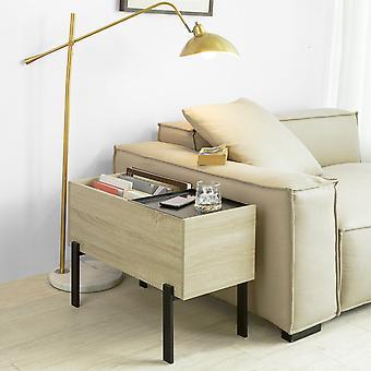 SoBuy FBT88-N, Mesa lateral Mesa de café Mesa lateral Mesa lateral Mesa lateral con Bandeja extraíble