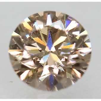 Cert 0.71 Karat Fancy Brown VVS1 Runde brillante natürliche Diamant 5,68 mm EX CUT