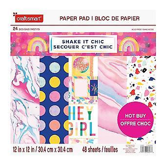 Craft Smith Shake it Chic 12x12 Inch Paper Pad