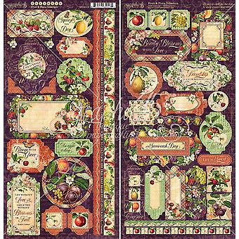 Gráfica 45 Frutas e amp; Adesivos Flora