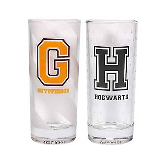 Harry Potter Glass H For Hogwarts & G For Gryffindor logo new Official 2 Pack