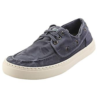 Natural World Old Quercia Mens Casual Trainers in Marine