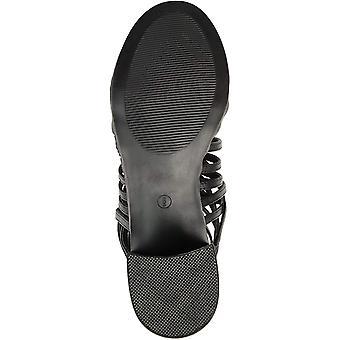 Brinley Co. naisten Deyona Faux nahka häkit Criss-Cross korot sandaalit