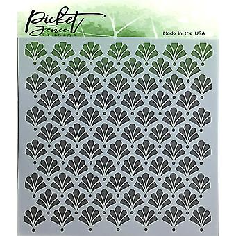 Picket Fence Studios Floral Damask Stencil