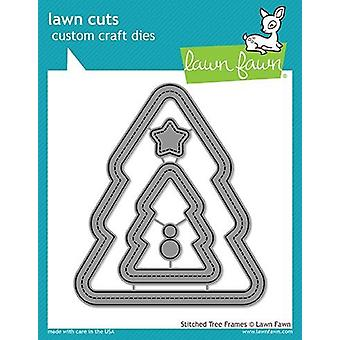 Lawn Fawn Stitched Christmas Tree Frames Dies