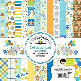 Doodlebug Design Party Time 6x6 Inch Paper Pad