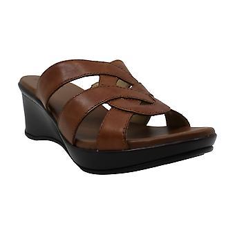 Naturalizador Mujer's Zapatos Violet Cuero Abierto de Los Dedos Casual Mule Sandalias