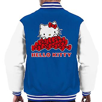 Hello Kitty Abundância Of Red Bows Men's Varsity Jacket