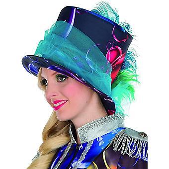 Bubble a bulles de savon chapeau de tulle chapeau à plumes