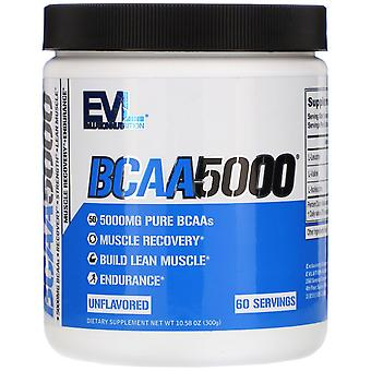 EVLution Nutrition, BCAA5000, Unflavored, 10,58 oz (300 g)