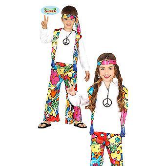 GENERIQUE hippie kostym med stora blommor för barn av flower power barn kostym