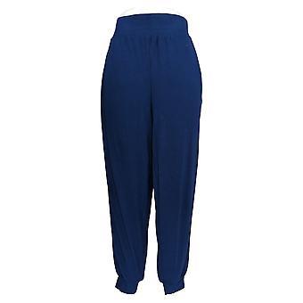 Anybody Women's Pants Regular Cozy Knit Ribbed Joggers Blue A365604
