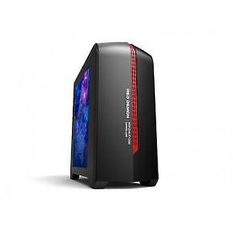 ADJ 200-00042 Gaming Midi-Tower [mATX/Mini-ITX, Plexi Window, USB3.0, 1x 120mm, No PSU, Red/Black]