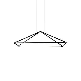 LED koriste katto riipus matta musta 90cm 3900lm 3000K