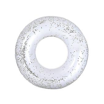 55cm Silver Crystal Sequins Inside Swim Ring Water Toy
