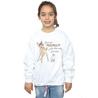 Disney Girls Bambi perfekt genau wie Sie Sweatshirt sind