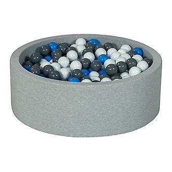 Hoyo de bolas 90 cm con 450 bolas blancas, azules y grises