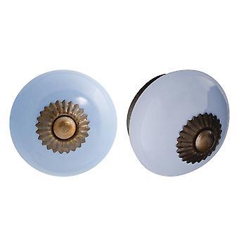 Nicola Spring Ceramic Cupboard Drawer Knobs - Azul - Pack de 24