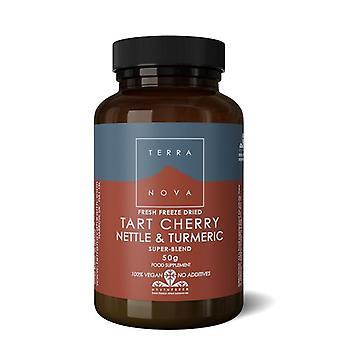 Terranova Tart Cherry, Nettle & Turmeric Super-Blend Powder 50g (T2473)
