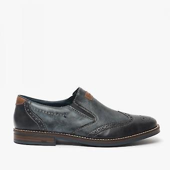 ريكر 13561-14 رجال واسعة زلة على الأحذية الزرقاء