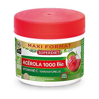 Maxi Pot Acerola 1000 Organic 60 tablets