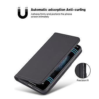 iPhone 12 / 12 Pro Wallet Case / Case PU Leder - Zwart