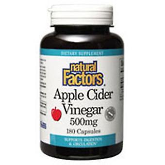 Natural Factors Apple Cider Vinegar, 500 mg, 180 Caps