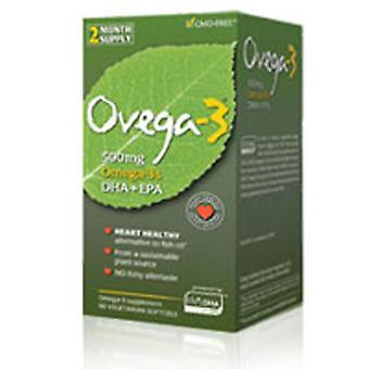 Amerifit Nutrition Ovega-3 DHA EPA Kasvissyöjä, 60 Softgels