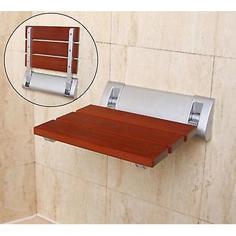 Vægmonterede brusesæder, Badeværelsesstol, Bad-bruser Folding Solid-træ-bænk