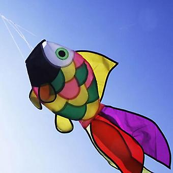 Rainbow Fish Kite, Line Stunt Kites Flying Long Tail, Outdoor Fun Sports