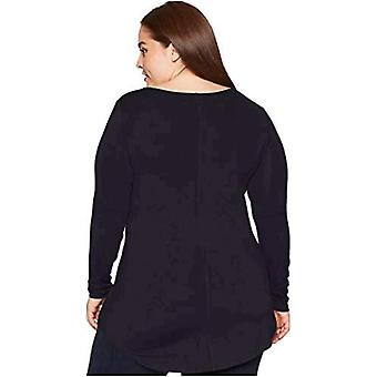 Brand - Daily Ritual Women's Plus Size Jersey Long-Sleeve Scoop Neck Tunic, 1X, Navy