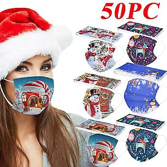 Mask For Adult Mouth With 2pc Filter, Washable Fabric Dustproof/outdoor