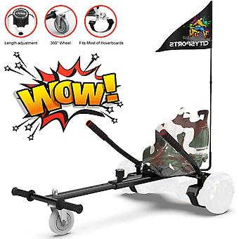 CitySport HoverKart for All Size Hoverboards with Flag-Camouflage