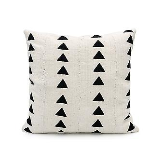 Mudcloth Triangles noirs Imprimer Coussin Couvre