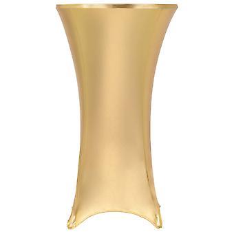 2 pieces stretch tablecloths Golden 80 cm