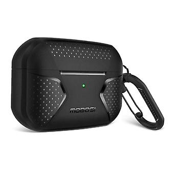 MOBOSI Shockproof Case for AirPods Pro with Carabiner - AirPod Case Cover Skin - Black