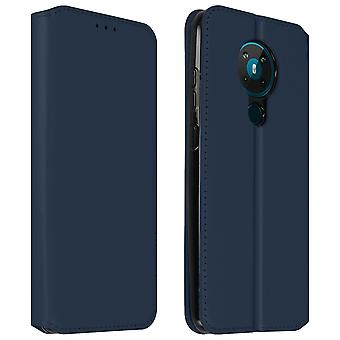 Back cover Nokia 5.3 Wallet and stand function - Blue