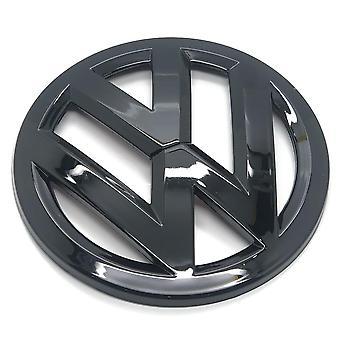 Gloss Black VW Volkswagen Golf MK7 Front Grill Bonnet Hood Badge Emblem 140mm