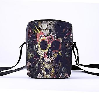 Women Punk Style Shoulder/crossbody Bag For The Skeleton Of Printing