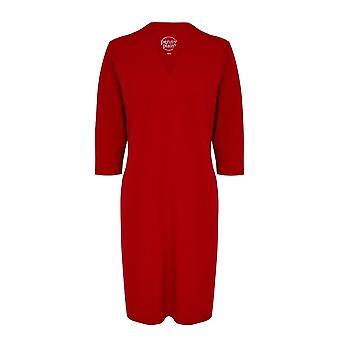 PENNY PLAIN Red High Back V-Neckline Dress