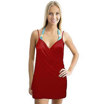 Backless Beach Dress Wrap, Red