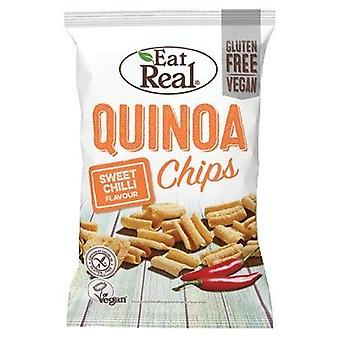Mangez real sweet chilli quinoa chips 80g x10