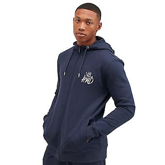 Kings Will Dream Crosby Zip Through Hoodie - Navy/Silver
