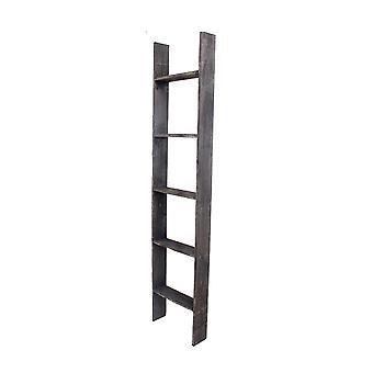 4 Stap rustieke zwarte houten ladder plank