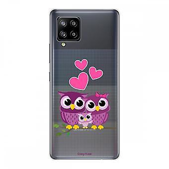 Scafo per Samsung Galaxy A42 5g Silicone Flessibile 1 mm, Gufo di famiglia
