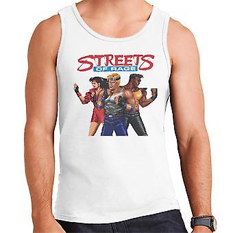 Sega Streets Of Rage Pixelated Tegn Menn's Vest